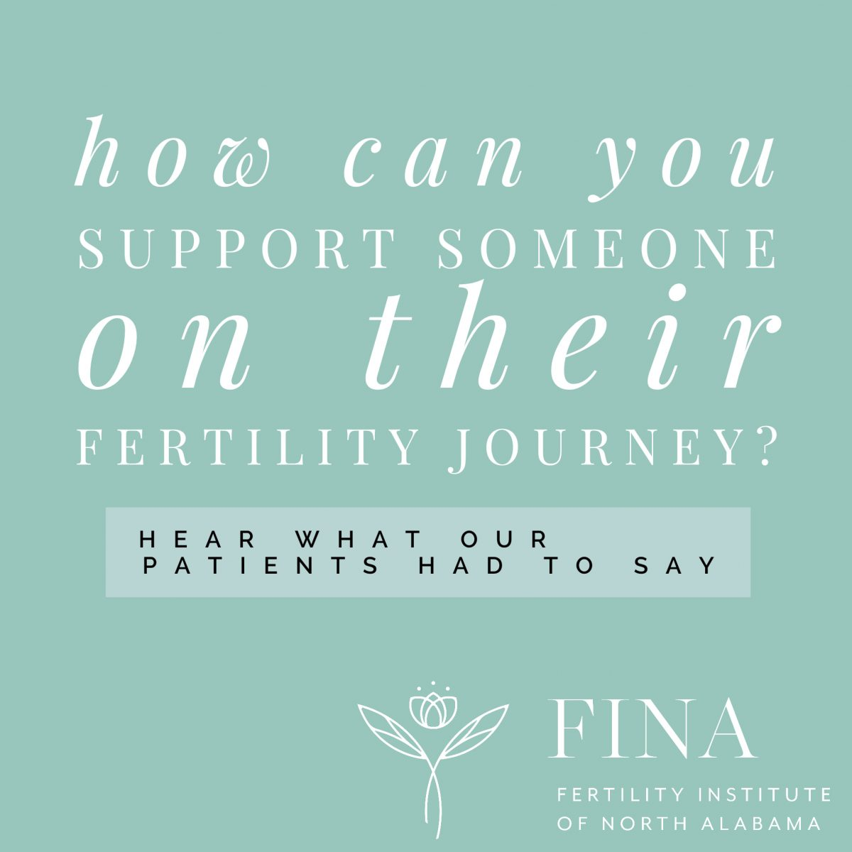 How can you support someone on their fertility journey?