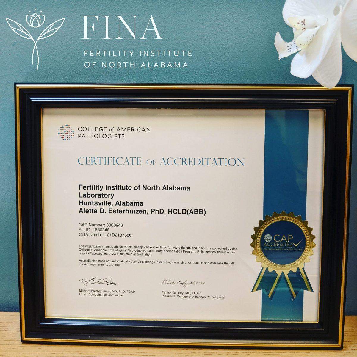 We are CAP certified!