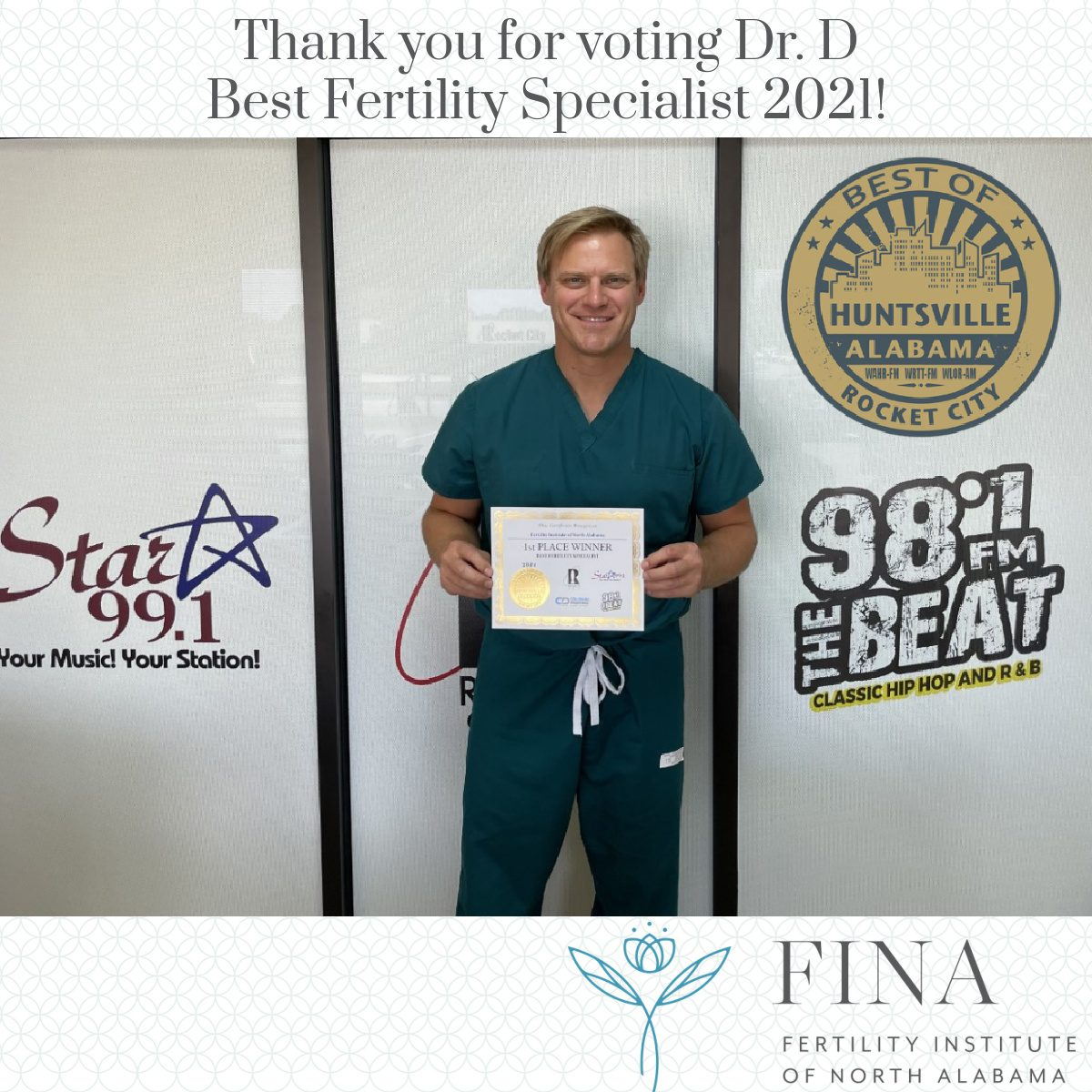 Thank you for voting us Best Fertility Specialist 2021!